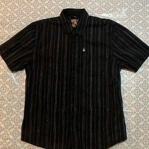 Volcom Short Sleeve Button Down Shirt. Sz L